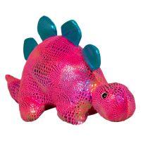 INT0328_001w Jucarie de plus Noriel, Dinozaur, Roz, 30 cm