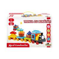 Jucarie de constructie Trenul cu bunatati, Micul Constructor