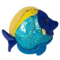 INT2001_001w Jucarie de plus Noriel - Peste cu paiete reversibile, Albastru, 20 cm