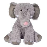 INT2285_001w Jucarie de plus Noriel, Elefant, Gri, 40 cm