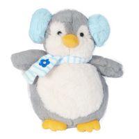 INT2339_001w Jucarie de plus Noriel, Pinguin cu casti 32 cm, Albastru
