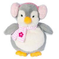 INT2346_001w Jucarie de plus Noriel, Pinguin cu casti, Roz, 32 cm