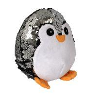 INT2612_001w Jucarie de plus Noriel, Pinguin cu paiete reversibile, 18 cm