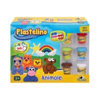 INT2773_001w Set de modelare Plastelino, Animale, 17 piese