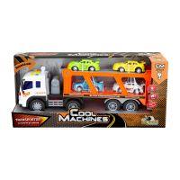 INT3763_001w Transportor cu lumini si sunete si 4 masinute Cool Machines INT3763