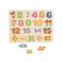 Jucarie bebelusi Noriel Bebe Wood - Puzzle cu numere
