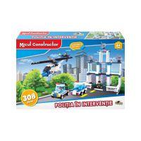INT4814_001w Jucarie de constructie Micul Constructor - Politia in interventie