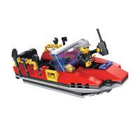 INT4821_001w Jucarie de constructie Micul Constructor - Barca de pompieri