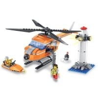INT4883_001w Jucarie de constructie Micul Constructor - Set elicopter si far