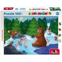 5947504025878 Puzzle 100 piese, Noriel Basme Romanesti, Ursul pacalit de vulpe
