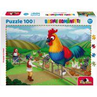 5947504025885 Puzzle 100 piese, Noriel Basme Romanesti, Punguta cu 2 bani