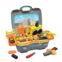 INT6498_001w Set de joaca cu plastilina, Buldozerul din gentuta, Plastelino
