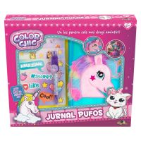 INT6832_001w Jurnal pufos Color Chic, Unicorn