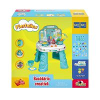 INT7013_001w Set de joaca cu plastilina, Bucataria Creativa, Plastelino