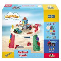 INT7020_001w Set de joaca cu plastilina, Santierul creativ, Plastelino