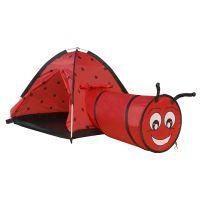 IP8902_001w Cort cu tunel pentru copii Iplay-Toys Ladybird Tent