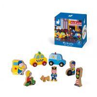 J08512_001w Set de joaca din lemn, Mini povesti Janod, Orasul