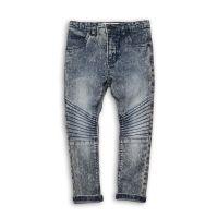 Jeans baieti cu tiv intors si cusatura pe genunchi, Minoti Bugs Bugs 6_1