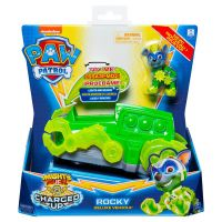 6055753_004w Figurina cu vehicul Paw Patrol Deluxe Vehicle Mighty Pups, Rocky 20121276