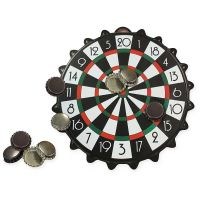 JOC0128_001 Joc Mini Darts Magnetic Bottle Cap Global, 24 cm