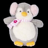 Jucarie de plus Noriel, Pinguin cu casti, Roz, 23 cm