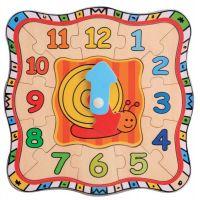 Jucarie educativa Beeboo - Ceas patrat din lemn BBO0023254