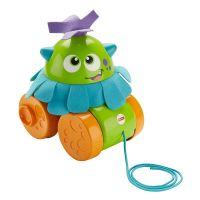 Jucarie pentru bebelusi Fisher Price Walk & Whirl Monster, Verde, FHG01