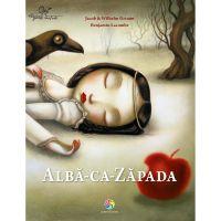 JUN.1136_001w Carte Editura Corint, Alba ca Zapada , Jacob WIilhelm Grimm, Benjamin Lacombe