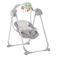 79110-8_SILVER_001 Leagan-balansoar cu vibratii pentru bebelusi Chicco, Polly, 0 luni+