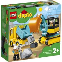 LG10931_001w LEGO® DUPLO® Town - Camion si excavator pe senil (10931)