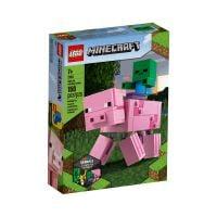 LG21157_001w LEGO® Minecraft™ - Porc BigFig cu bebelus de zombi (21157)