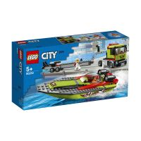 LG60254_001w LEGO® City Great Vehicles - Transportorul barcilor de curse (60254)
