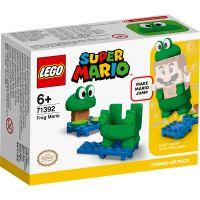 Sari in actiune cu acest Pachet de puteri suplimentare Mario Broasca! Adauga caramizile albastre de apa si nuferii la nivelul pasionant LEGO® Super Mario™ pe care l-ai construit. Imbraca-l pe LEGO® Mario™ (figurina nu este inclusa) in costumul de broasca.