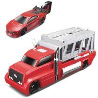 MAIS-15102_001w Set masinuta, camion si cheie Maisto, Rosu