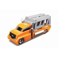 MAIS-15102_002w Set masinuta, camion si cheie Maisto, Portocaliu