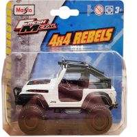 MAIS-25205_2018_103w Masinuta Maisto Fresh Metal, 4X4 Rebels, 11 cm, 164, Jeep alb