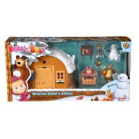 Set de constructie  Masha and The Bear - Casa de iarna a ursului