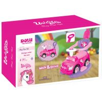 DOLU2537_001w Masinuta cu maner Walk and Drive Dolu Unicorn Step 4 in 1, Roz
