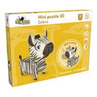 Mini Puzzle 3D NORIEL - Zebra (13 piese)