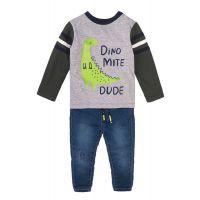 35110097 Set bluza sport si pantaloni jeans Minoti Baby, Mite