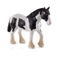 MOJO387085_001w Figurina Mojo, Cal alb cu negru Clydesdale