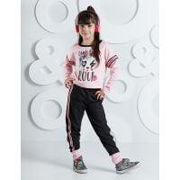 20204242 Set tricou cu maneca lunga si pantaloni sport Rock Panda Mushi