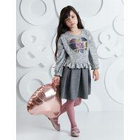 20204250 Rochie cu top tricotat Heart Mushi