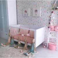 NOR1_001 Patut bebe Home Concept Natur, Alb NOR1