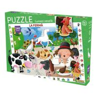 Puzzle Noriel Lumea vesela - La ferma (240 piese)
