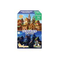 NOR4635_001w Mini Puzzle cu doua fete Noriel - Zi, Noapte, 24 piese