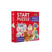 NOR5335_001w Noriel Puzzle - Start Puzzle, Animale la ferma