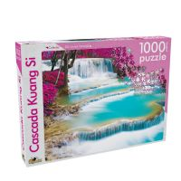 NOR5366_001w Noriel Puzzle - Din Lumea Intreaga - Cascada Kuang Si, 1000 Piese