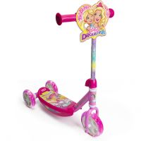 OBBD110_001w Trotineta cu 3 roti Barbie Dreamtopia, Roz