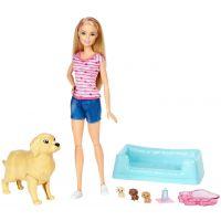 Papusa Barbie Blonda si catelusii, FDD43